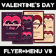 Valentines Day Flyer + Menu Templates V9 - GraphicRiver Item for Sale