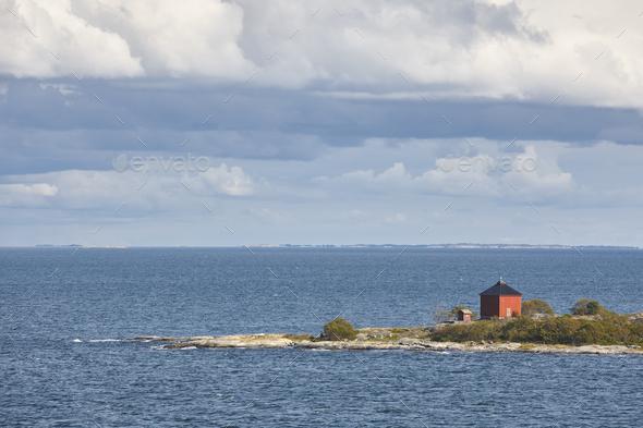 Finnish coastline landscape with islands. Baltic sea. Aland archipelago. Finland - Stock Photo - Images