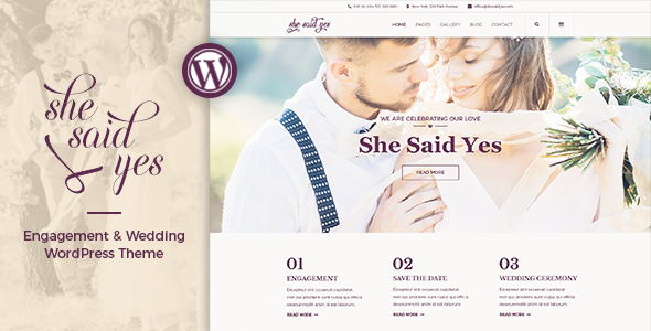 SheSaidYes - Engagement & Wedding WordPress Theme - Wedding WordPress