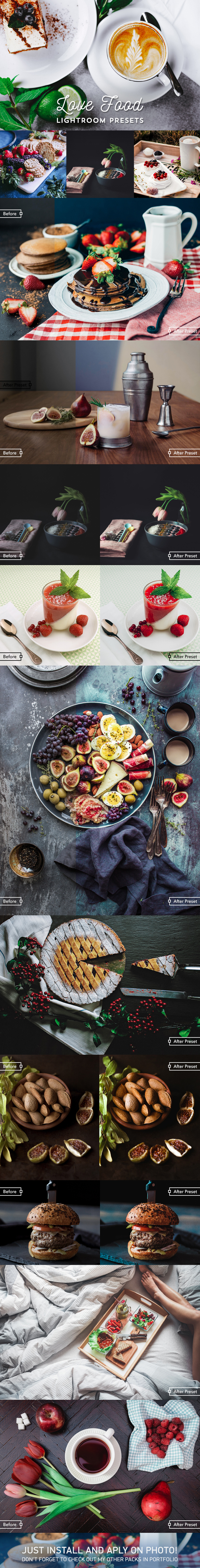 GraphicRiver Love Food Lightroom 24 Presets 20871793