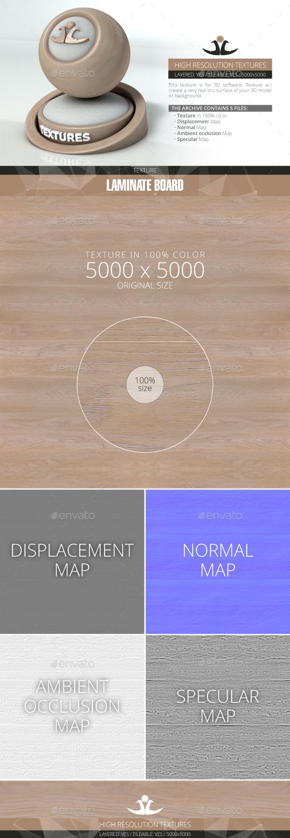 Laminate board 2 - 3DOcean Item for Sale