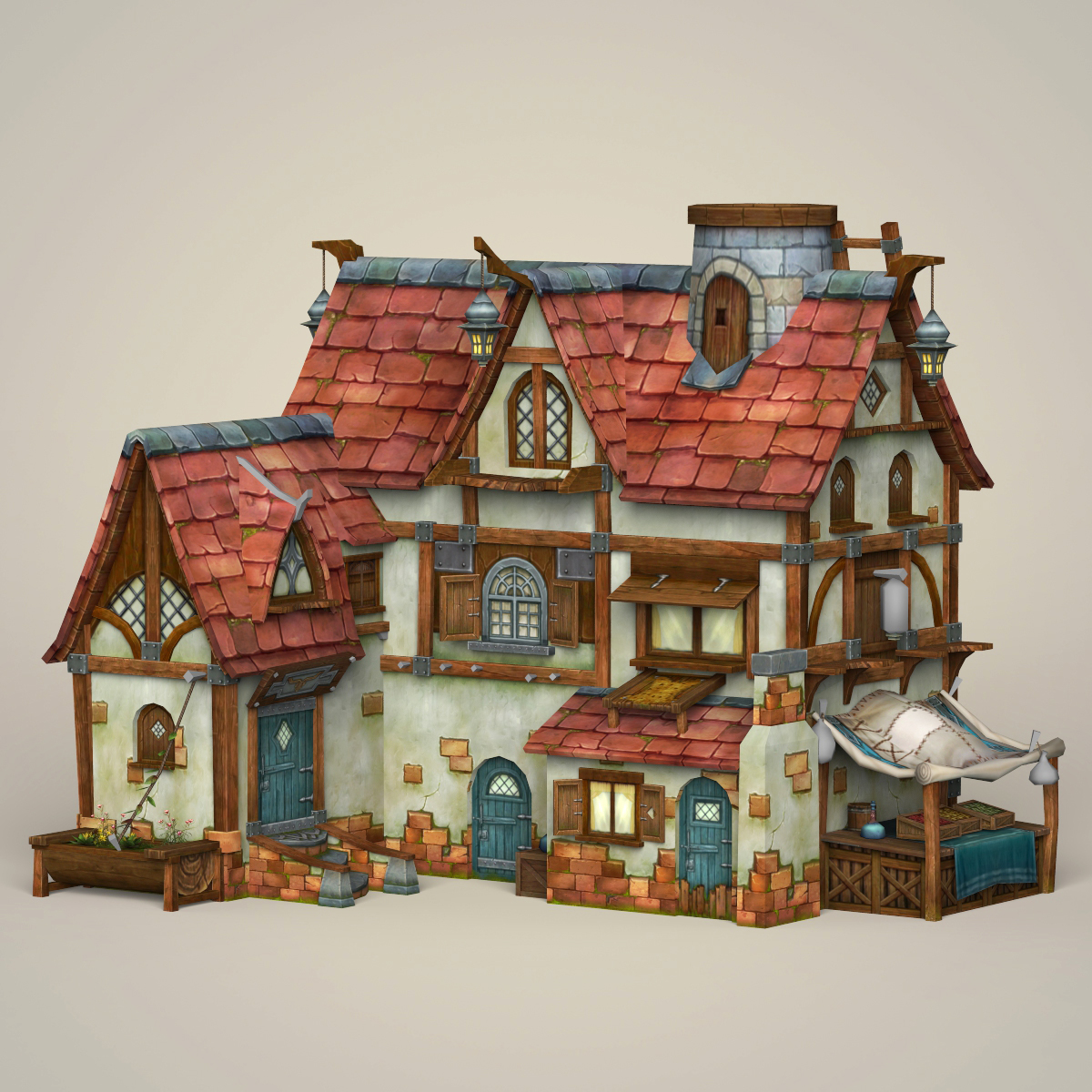 Game Ready Fantasy House By Gamingarts 3docean