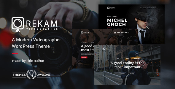 Rekam | A Modern Videographer WordPress Theme