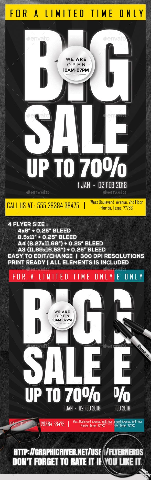 Big Sale Flyer - Commerce Flyers