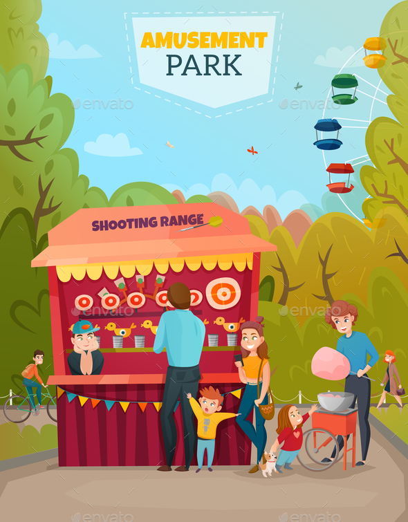 Amusement Park Illustration - Miscellaneous Vectors