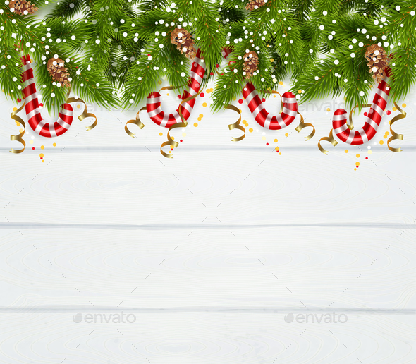 Spruce Twigs Background - Christmas Seasons/Holidays