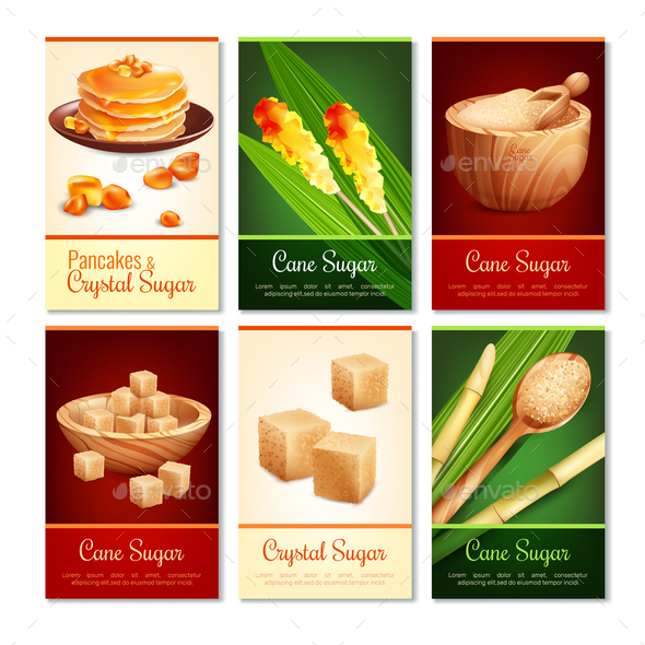 GraphicRiver Cane Sugar Vertical Cards 20871982