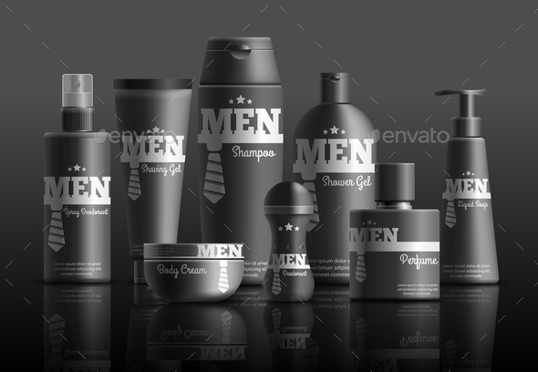 Mens Cosmetic Series Realistic Composition - Man-made Objects Objects