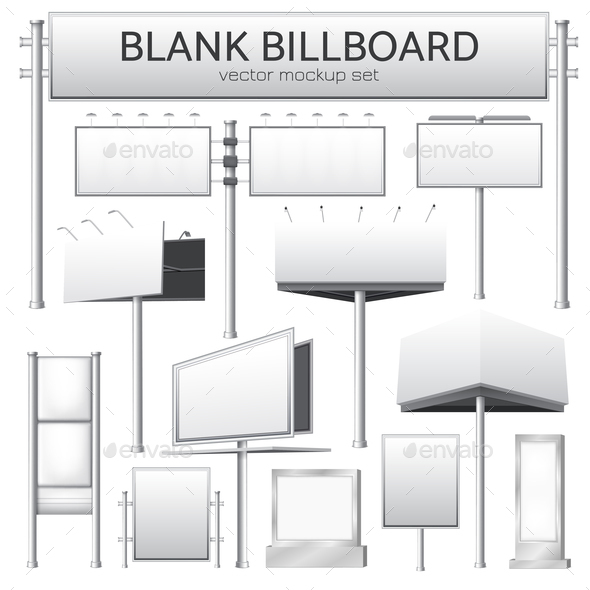 Blank Billboard Mockup for Advertisement - Miscellaneous Vectors
