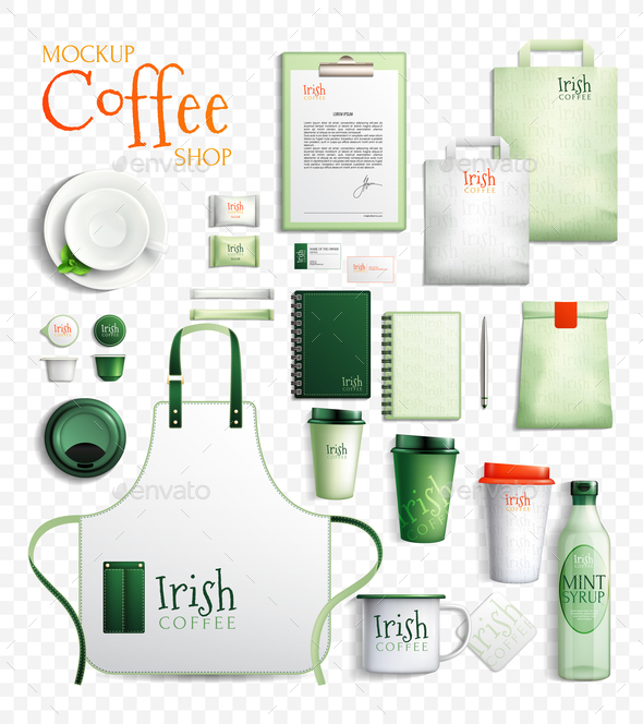GraphicRiver Irish Coffee Transparent Collection 20872016