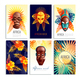 African Mask Cards Set