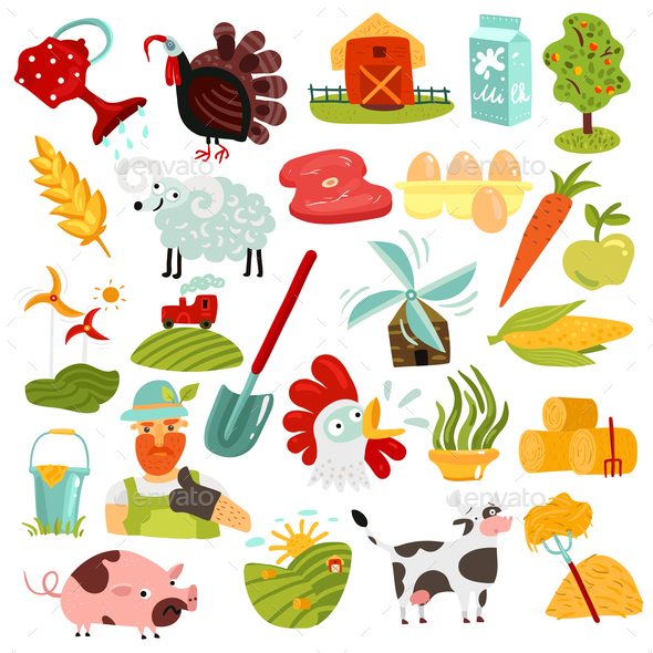 GraphicRiver Farm Elements Set 20872024