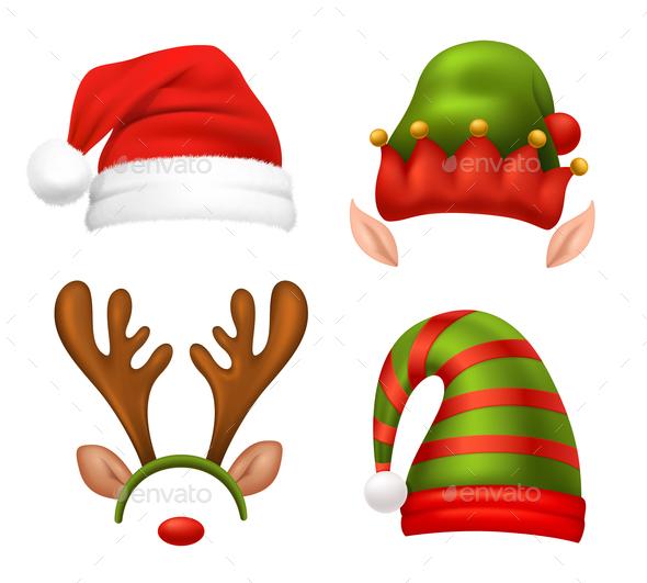 Santa Claus Concept Icons Set - Christmas Seasons/Holidays