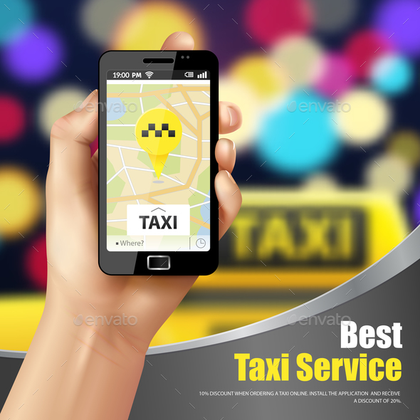 Taxi Service Application - Services Commercial / Shopping