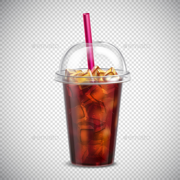 GraphicRiver Cola with Ice Realistic Transparent 20872040
