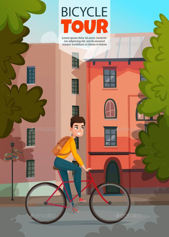 GraphicRiver Bicycle Ride Illustration 20872048