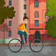 Bicycle Ride Illustration