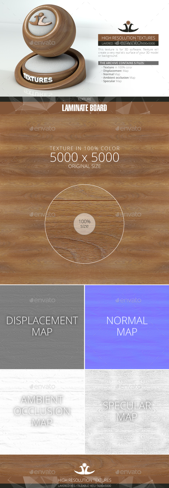 Laminate Board 4 - 3DOcean Item for Sale