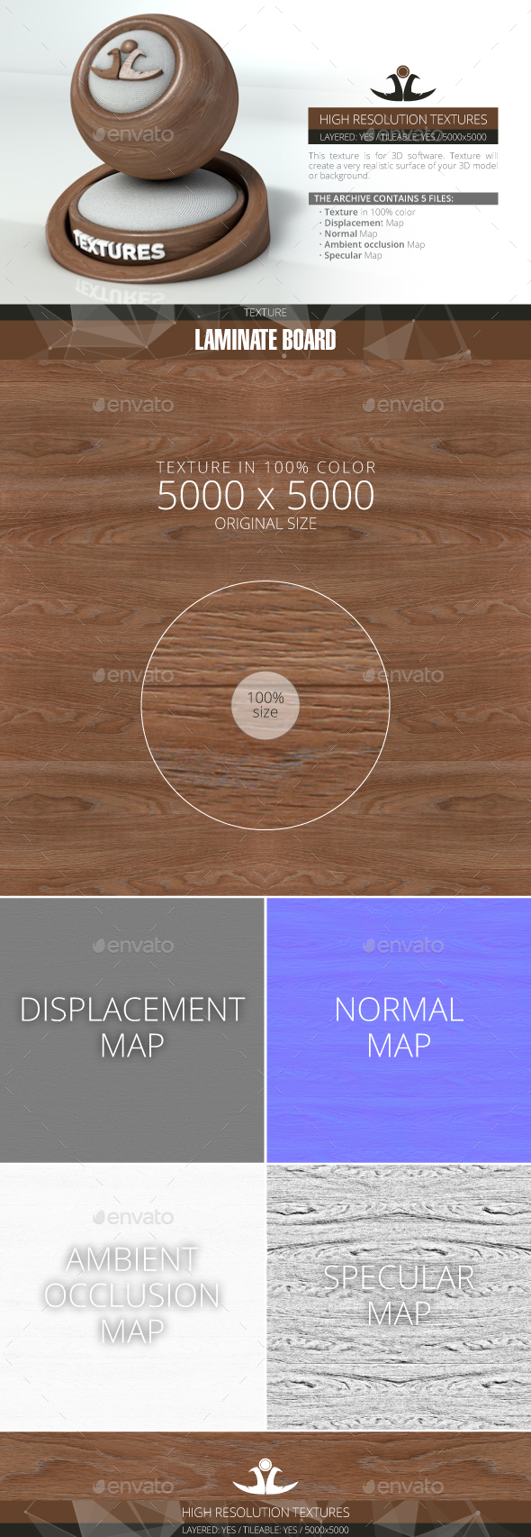 Laminate Board 5 - 3DOcean Item for Sale