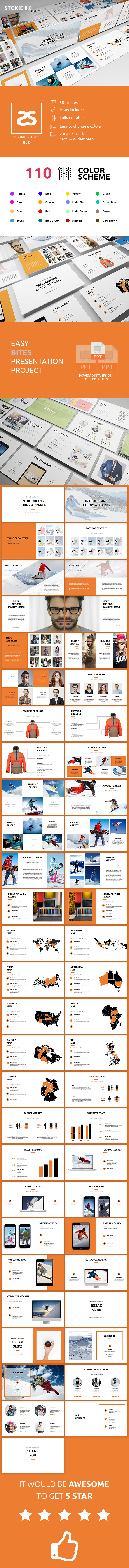 GraphicRiver Apparel Product Launching Powerpoint Template 8.0 20872149