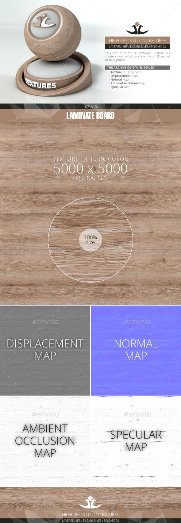 Laminate Board 9 - 3DOcean Item for Sale