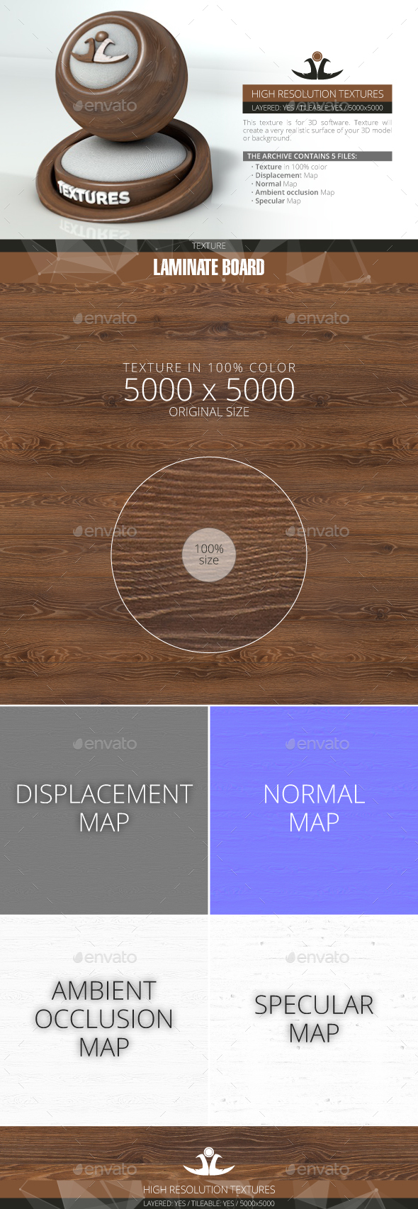 Laminate Board 10 - 3DOcean Item for Sale