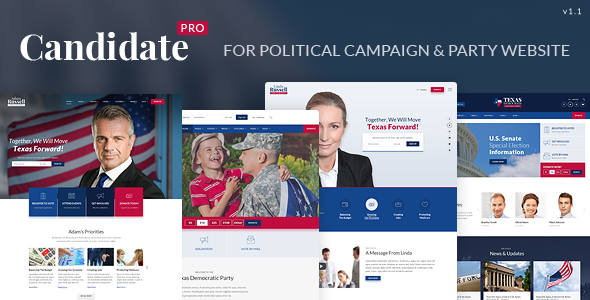 Image of Candidate Pro - Political Campaign, Party, Nonprofit HTML Template