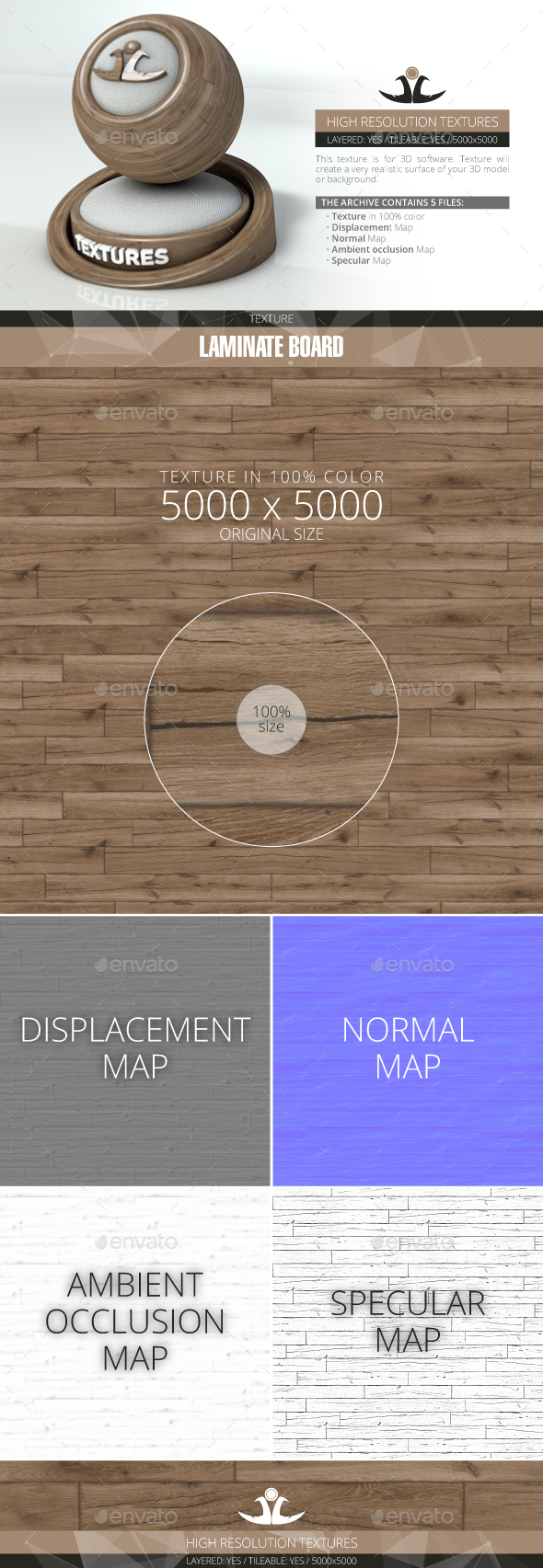 Laminate Board 11 - 3DOcean Item for Sale
