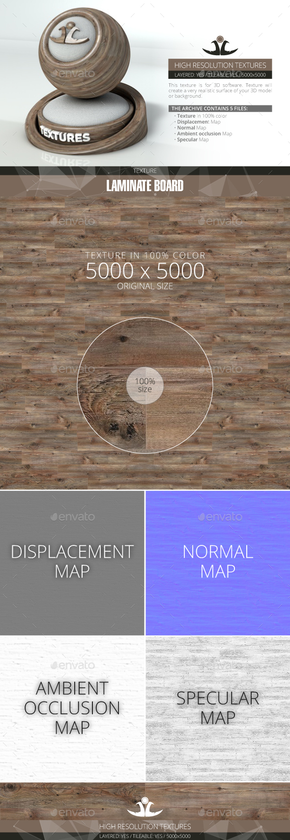 Laminate Board 12 - 3DOcean Item for Sale
