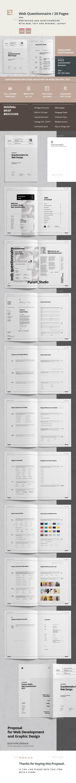 Questionnaire Web Design - Corporate Brochures