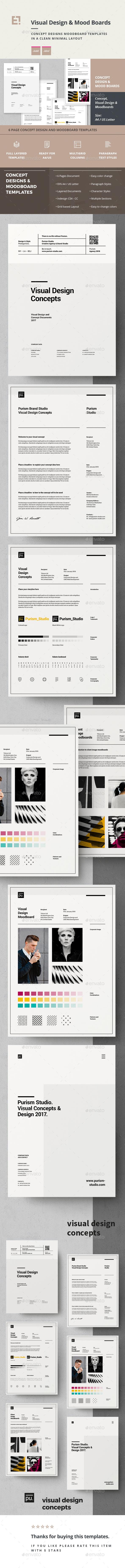 Concept Design Moodboard Templates - Portfolio Brochures