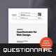 Questionnaire Web Design - GraphicRiver Item for Sale