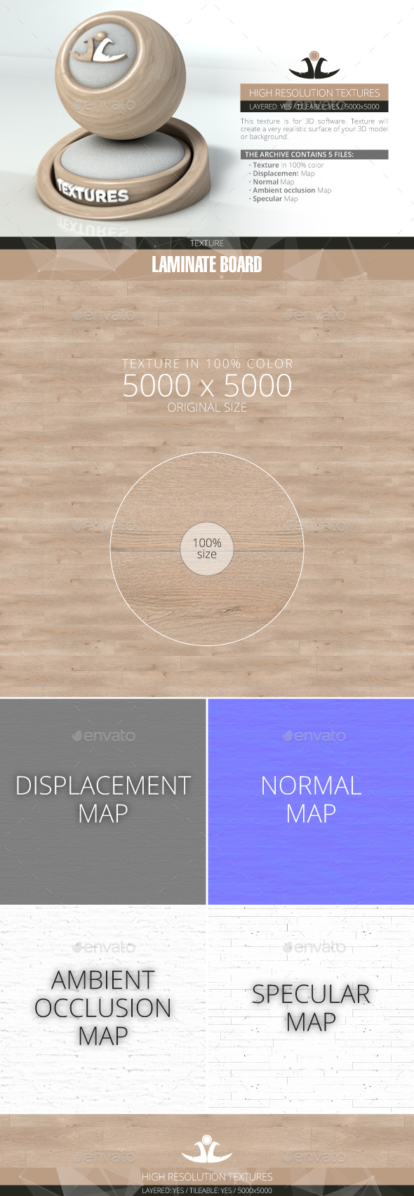 Laminate Board 16 - 3DOcean Item for Sale