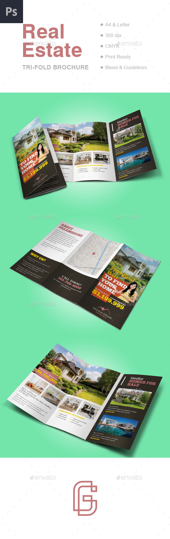 GraphicRiver Real Estate Tri-fold Brochure Template 20872359