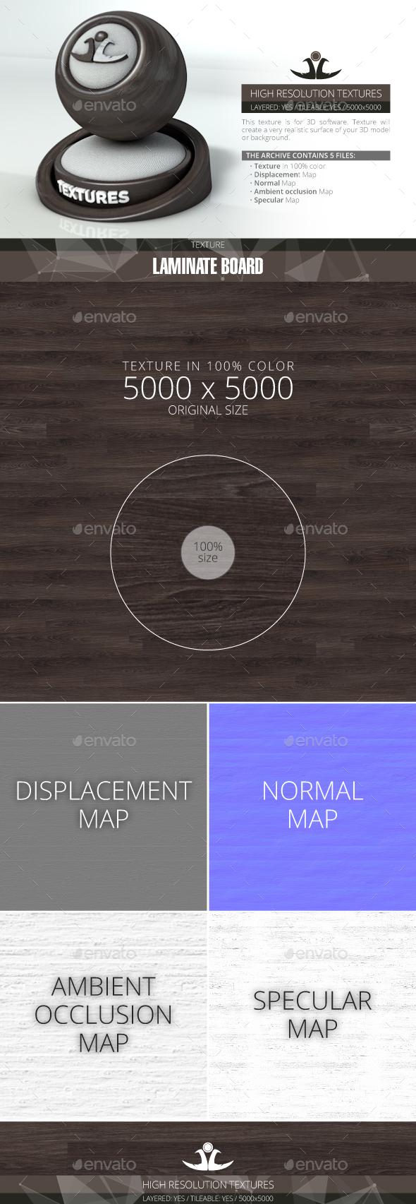 Laminate Board 17 - 3DOcean Item for Sale