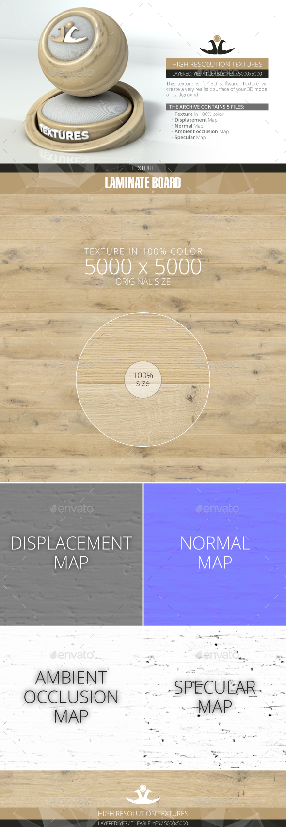 Laminate Board 18 - 3DOcean Item for Sale