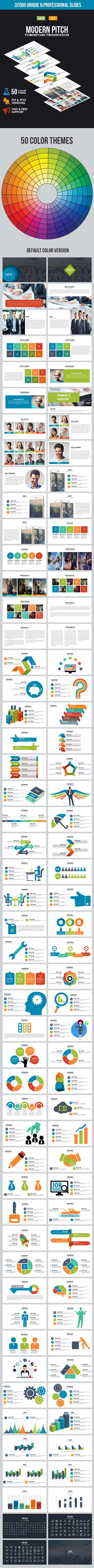 Modern Pitch Powerpoint Template - Business PowerPoint Templates