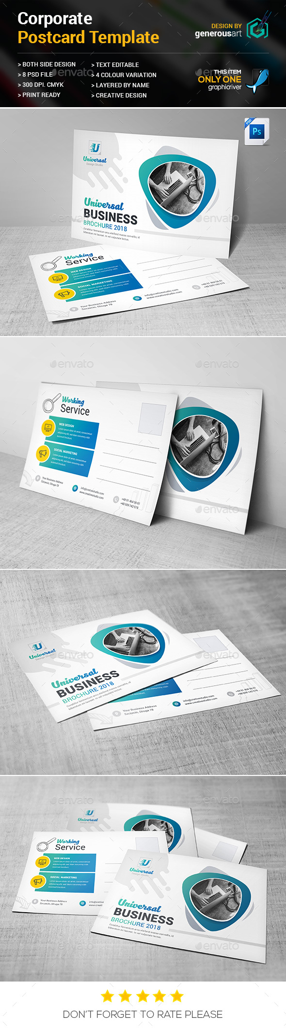 Postcard - Cards & Invites Print Templates