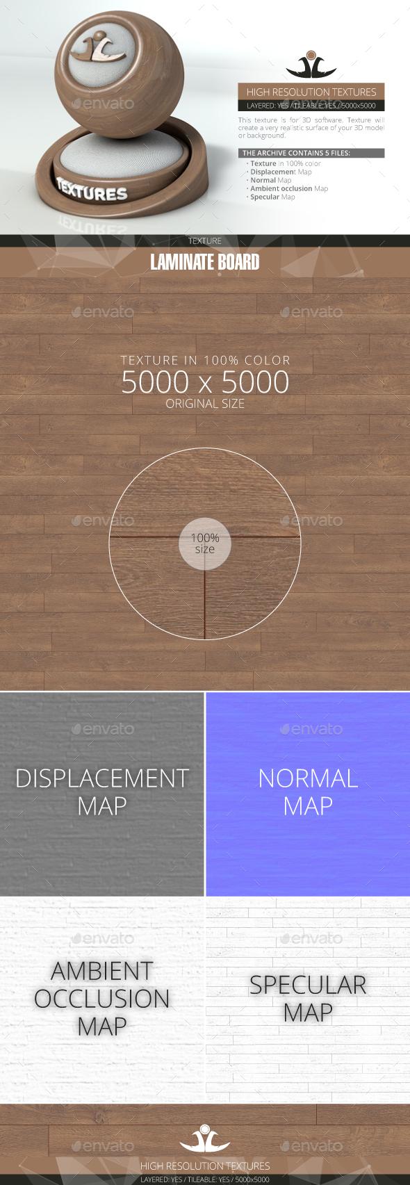 Laminate Board 20 - 3DOcean Item for Sale