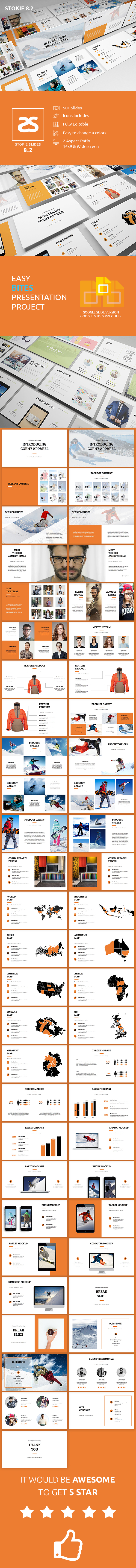 GraphicRiver Apparel Product Launching Google Slide 8.2 20872488