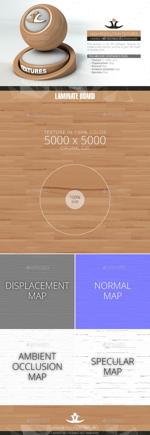 Laminate Board 21 - 3DOcean Item for Sale