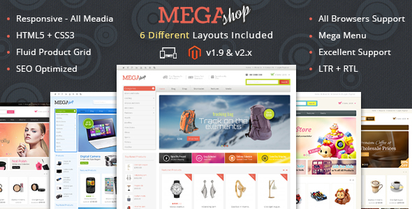 Mega Shop - Responsive Magento 1 & 2 Theme - Shopping Magento