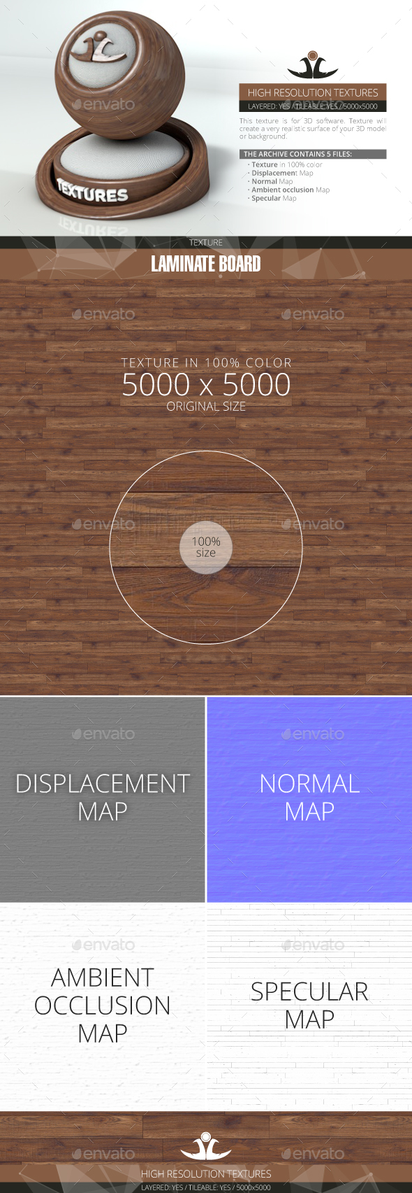 Laminate Board 24 - 3DOcean Item for Sale