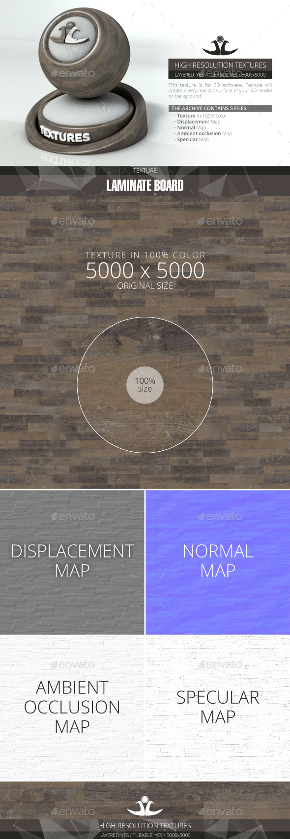 Laminate Board 27 - 3DOcean Item for Sale