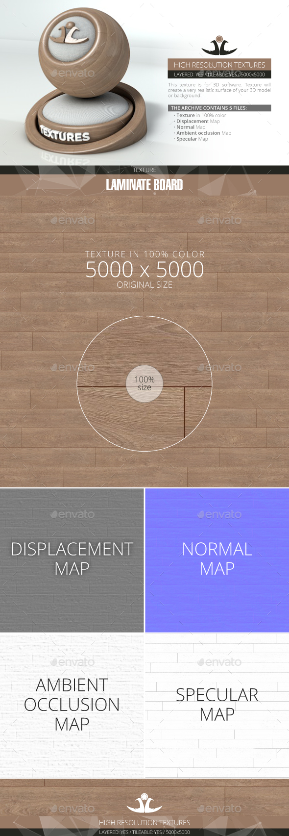 Laminate Board 28 - 3DOcean Item for Sale