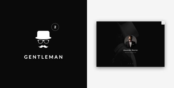 Gentleman - Personal vCard Template - Virtual Business Card Personal