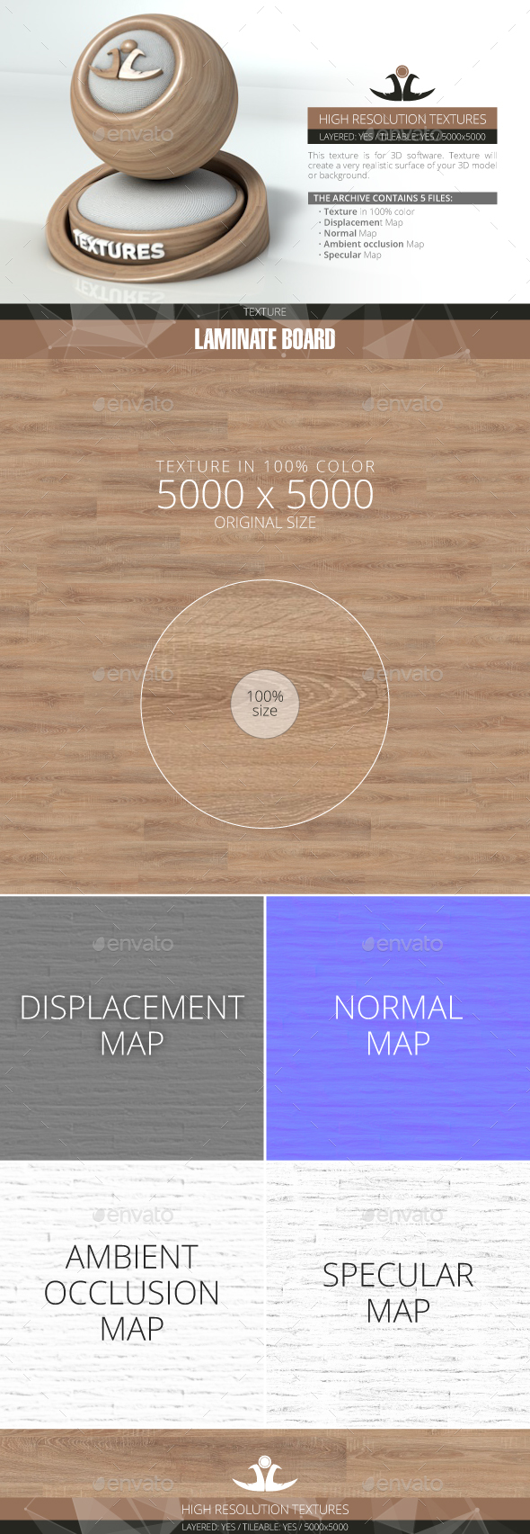 Laminate Board 30 - 3DOcean Item for Sale