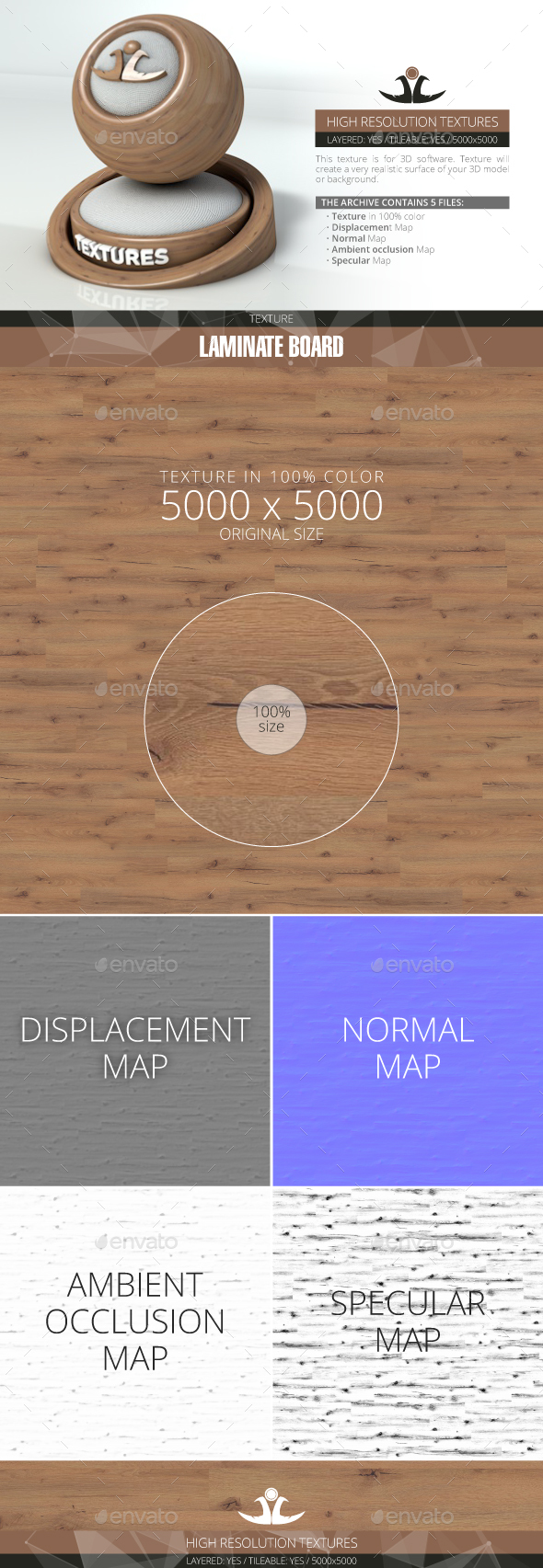 Laminate Board 31 - 3DOcean Item for Sale