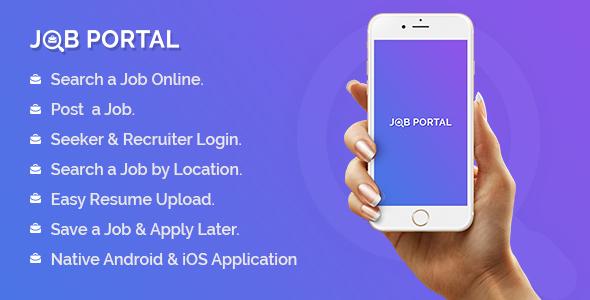 CodeCanyon Job Portal Mobile Application With Web Portal 20872795