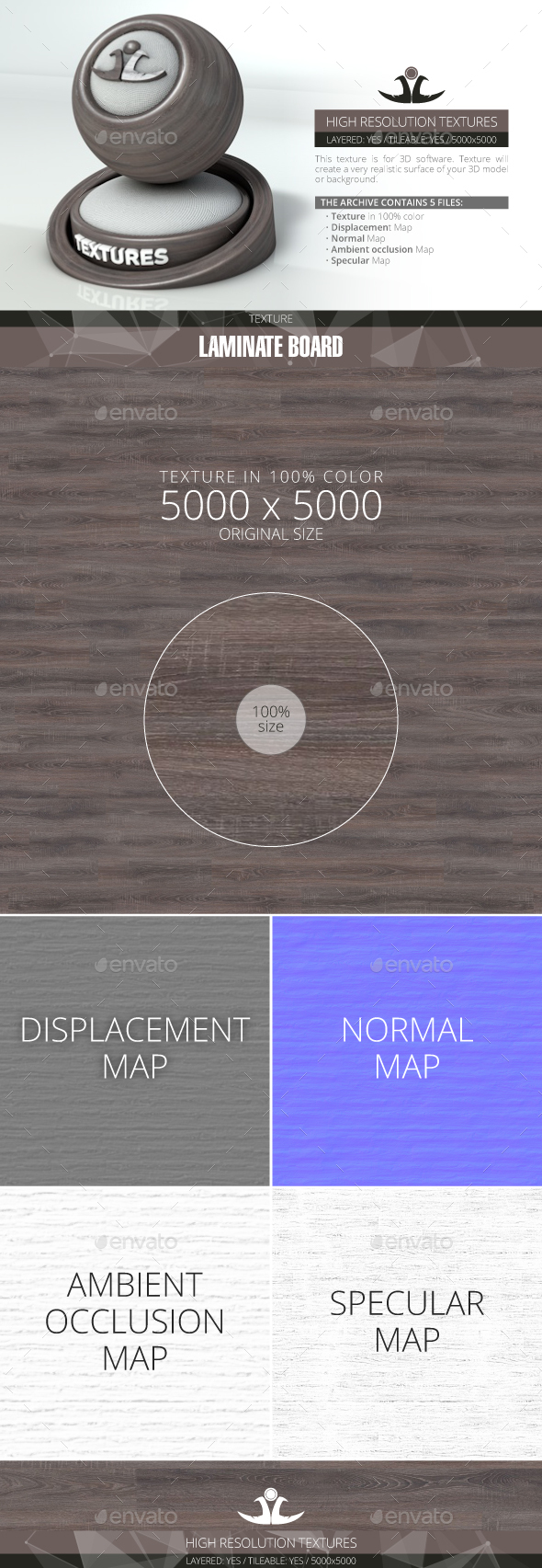 Laminate Board 32 - 3DOcean Item for Sale
